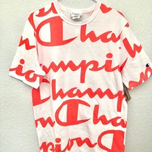 New Champion Heritage T-Shirt Coral Men's Size M